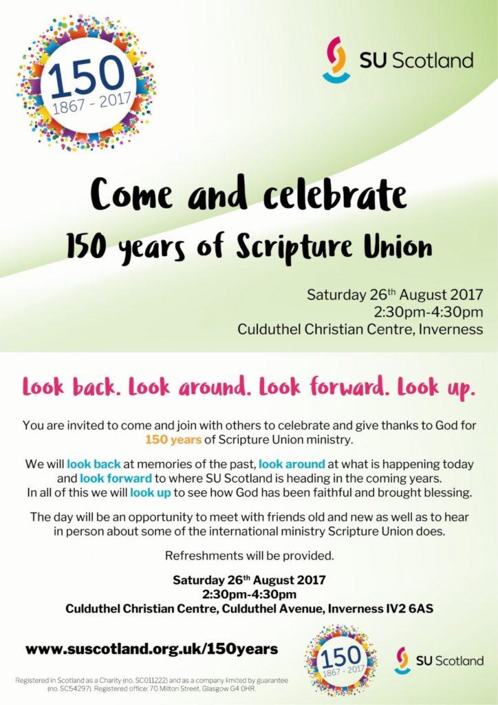 Scripture Union anniversary